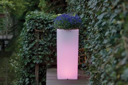 CUBOTTI 90 Pflanzsäule mit LED-Beleuchtung und Funk-Fernbedienung