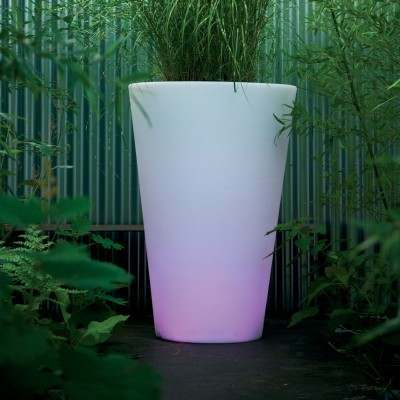 SIENA LED-Blumentopf beleuchtet