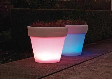 BORDATO beleuchteter LED-Blumentopf
