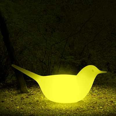 PALOMA Taube beleuchtet mit LED-RGB Glühbirne und Funk-Fernbedienung
