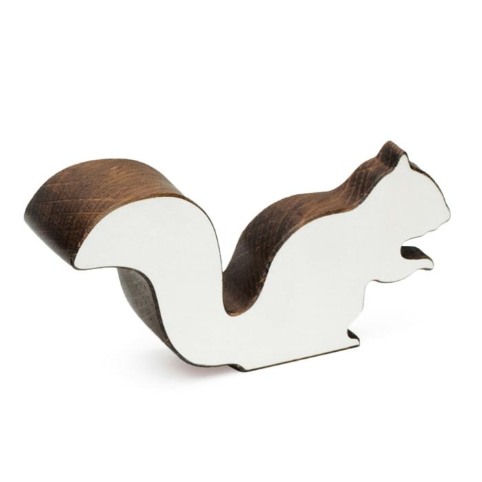 CHIP Eichhörnchen Figur Eiche dunkel / weiß