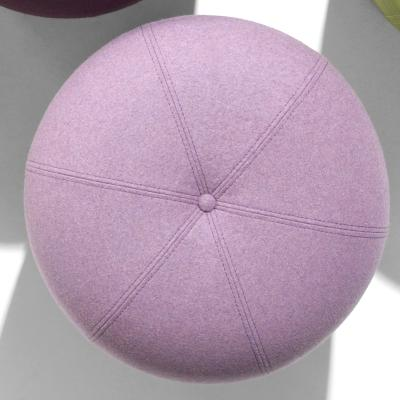 ZAPALLO Hocker / Pouf Wollfilz Lana flieder