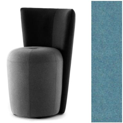 ZAPALLO Sessel mit Rückenlehne / Pouf Wollfilz Lana aqua
