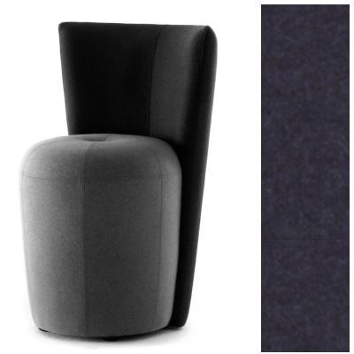 ZAPALLO Sessel mit Rückenlehne / Pouf Wollfilz Lana blau