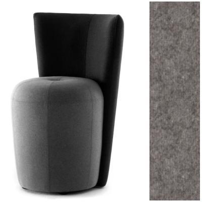 ZAPALLO Sessel mit Rückenlehne / Pouf Wollfilz Lana grau