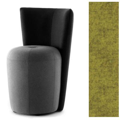 ZAPALLO Sessel mit Rückenlehne / Pouf Wollfilz Lana kiwi