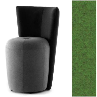 ZAPALLO Sessel mit Rückenlehne / Pouf Wollfilz Lana moos