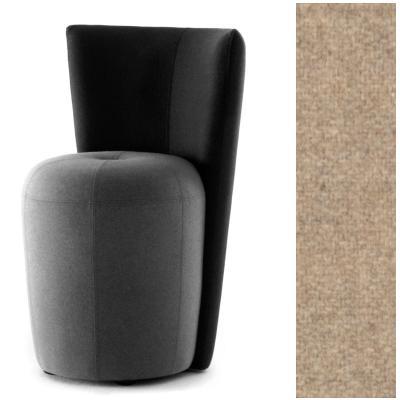 ZAPALLO Sessel mit Rückenlehne / Pouf Wollfilz Lana natur