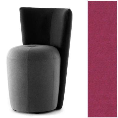 ZAPALLO Sessel mit Rückenlehne / Pouf Wollfilz Lana pink