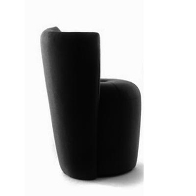 ZAPALLO Sessel mit Rückenlehne / Pouf Wollfilz Lana schwarz