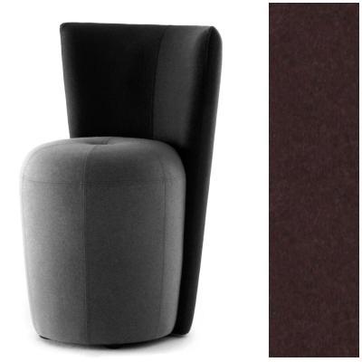 ZAPALLO Sessel mit Rückenlehne / Pouf Wollfilz Lana violett