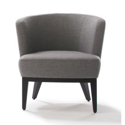 SUE Sessel, schwarz, Stoff grau, Frontal