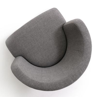SUE Sessel, schwarz, Stoff grau, von oben