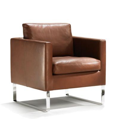 MINO Sessel mit Kufen, Leder schokobraun
