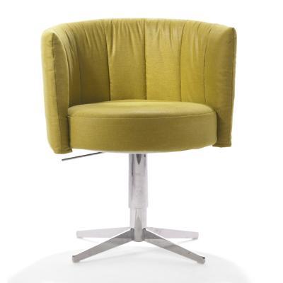 RON Sessel, drehbar, höhenverstellbar, Stoff MONA grün