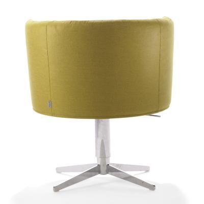 RON Sessel Leder grün, Rückansicht