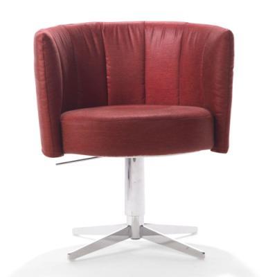 RON Sessel, drehbar, höhenverstellbar, Stoff MONA pink