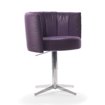 RON Sessel, drehbar, höhenverstellbar, Stoff MONA violett