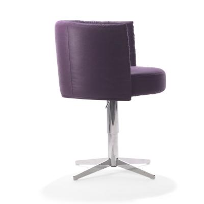RON Sessel Leder violett, Rückansicht