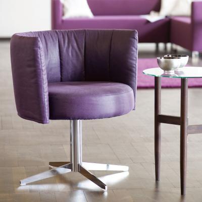 RON Sessel Leder violett