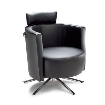 VITO Sessel Leder, mit Kopfstütze