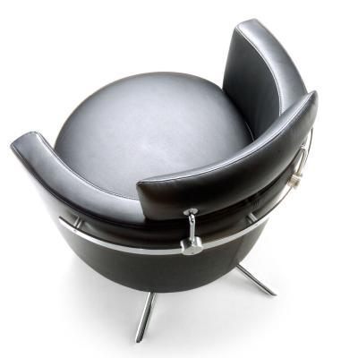 VITO Sessel Leder, mit Kopfstütze, von oben