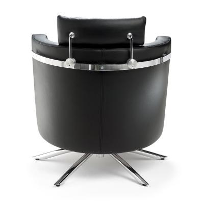VITO Sessel Leder, mit Kopfstütze, von hinten