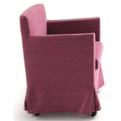 RICK Stuhlsessel mit Armlehnen und Husse, Ausführung nach Kundenwunsch