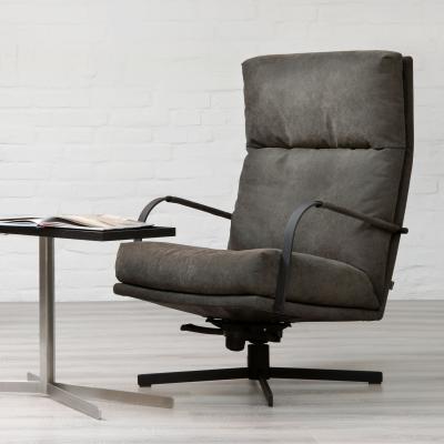 GIN Sessel, drehbar, Gestell schwarz, Lehnen Samtlack