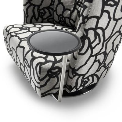 MATHEO Sessel, drehbar, Stoff HIPO schwarz, Tisch niedrig