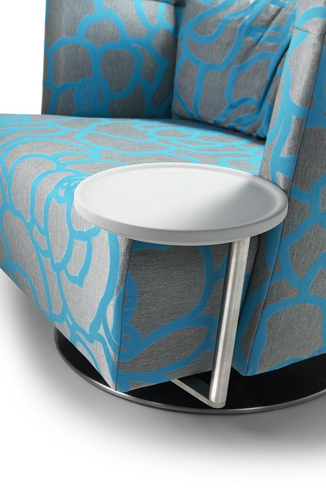 MATHEO Tisch rund Ø 26 cm mit Platte silber