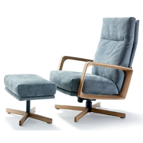 GIN Sessel, drehbar, Holz