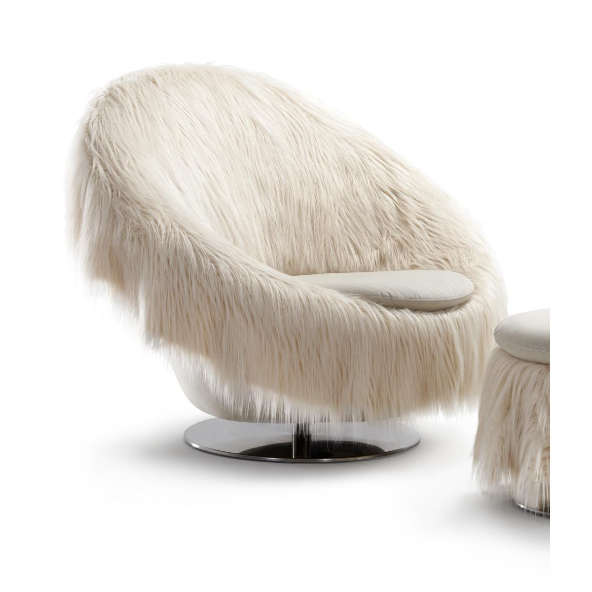 BIG EASY Sessel mit kuscheligem Überwurf YETI
