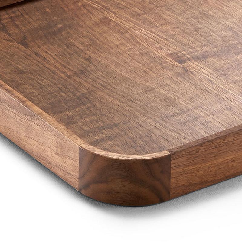 CHARLY Tablett die schöne Verarbeitung der runden Ecken
