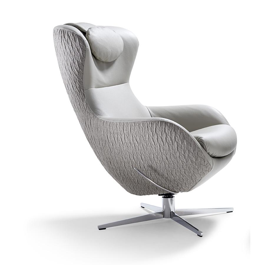 JESTER Sessel mit Kopfkissen, Rückseite Stoff Origami, Schale Stoff