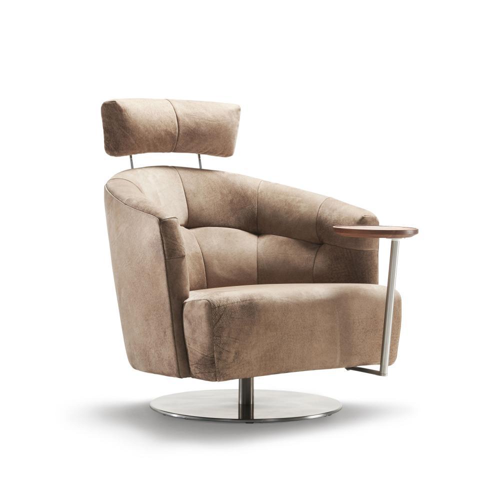 MATHEO Sessel mit Kopfstütze und Schwenktisch (hoch)