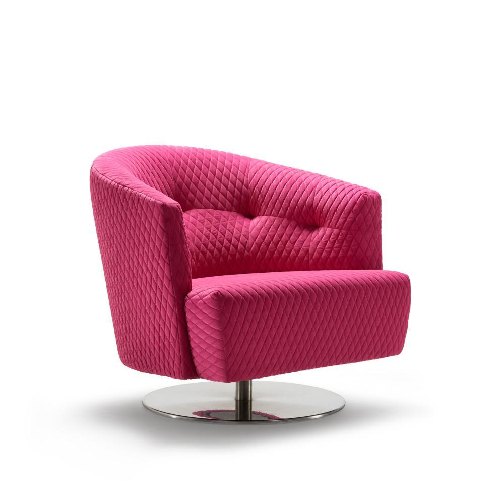 MATHEO Sessel mit Bezug ORIGAMI in pink