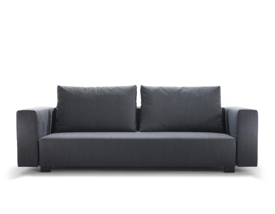 PALLINI Sofa mit hohen Armlehnen, Kissen CLASSIC, Bezug FILA anthrazit