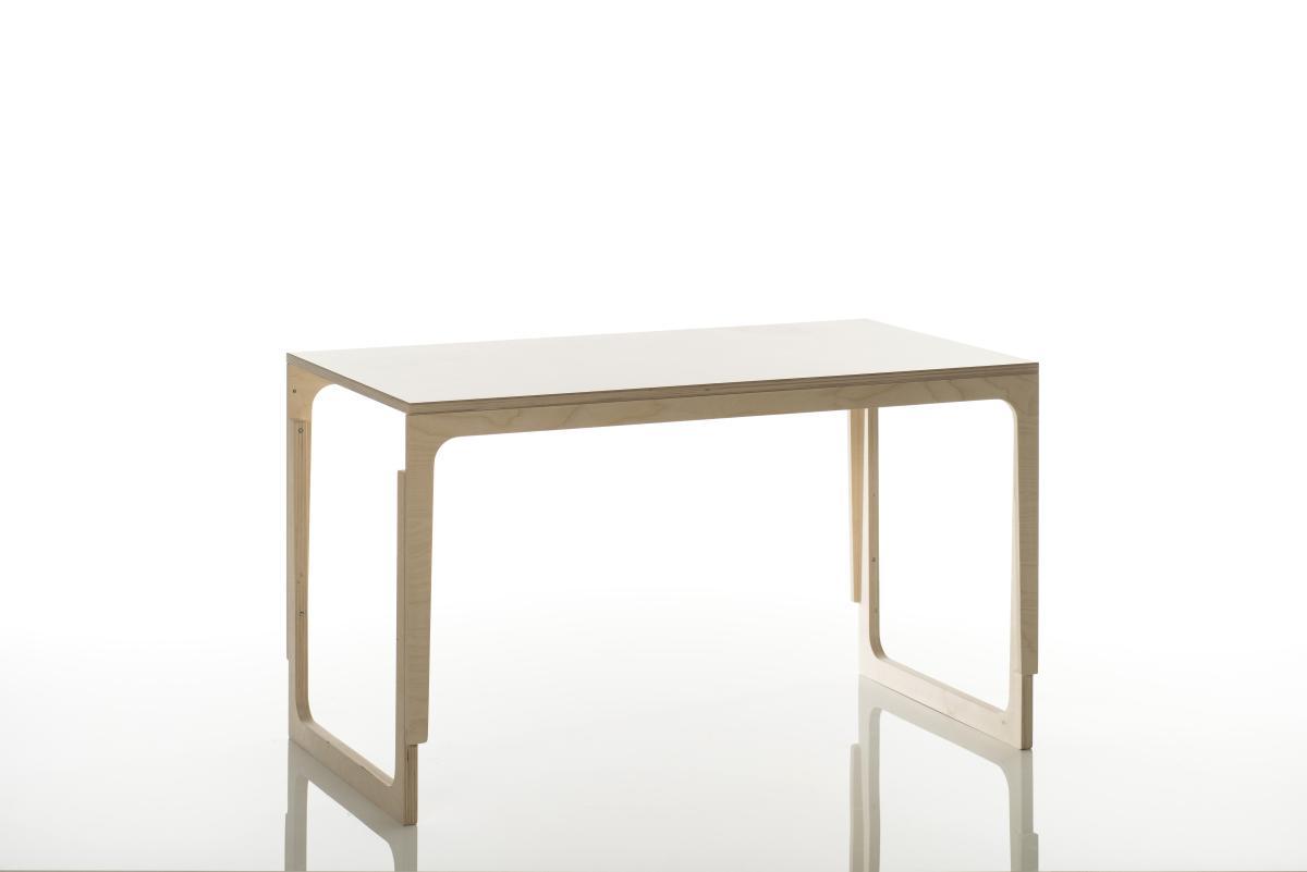 Sibis Vaclav Tisch höhenverstellbar mit Ablage grün