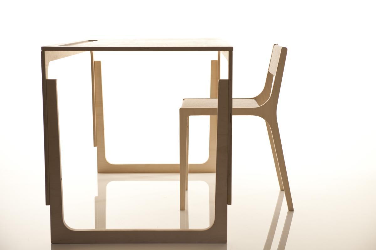 Sibis Vaclav Tisch höhenverstellbar, mit Stuhl Sepp
