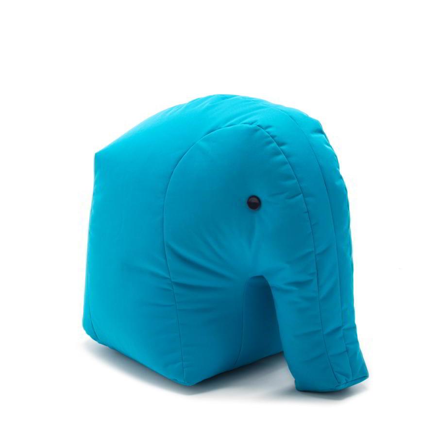 Elefant CARL Kindersitzsack aus Happy Zoo, türkis