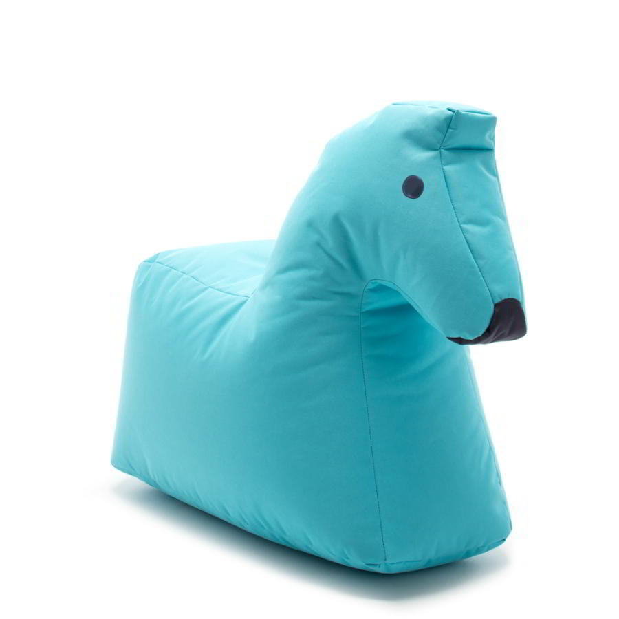 Pferd LOTTE Kindersitzsack aus Happy Zoo, türkis