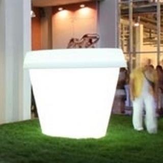 GIO MONSTER Blumentopf 184 cm beleuchtet weiß