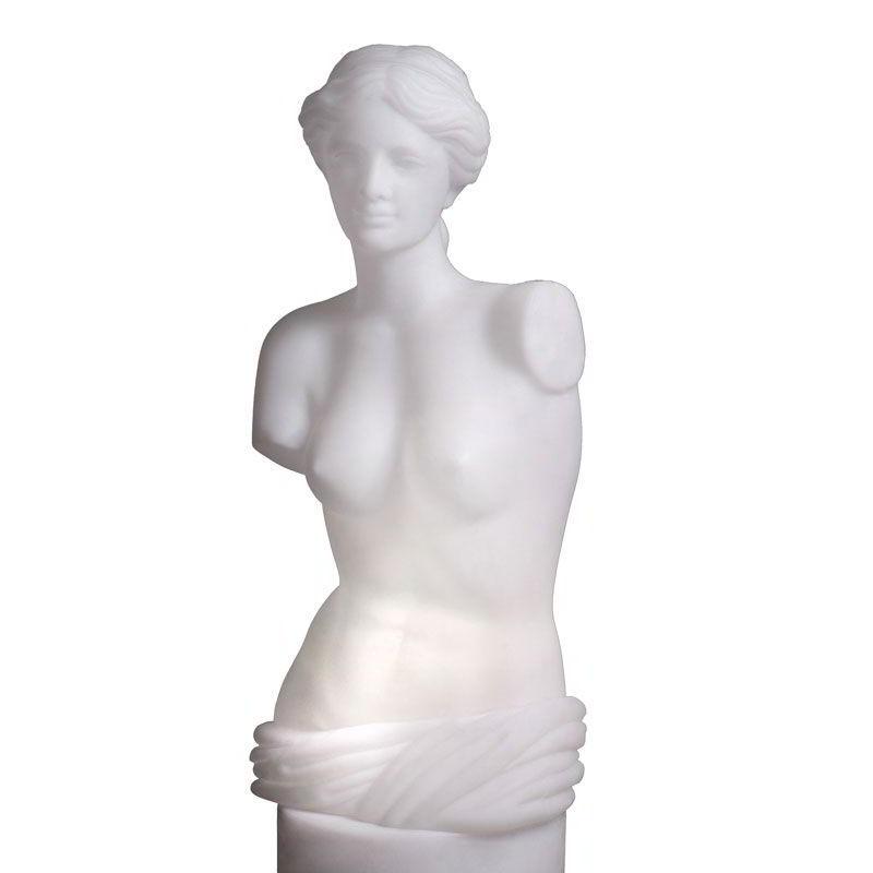 VENUS Büste beleuchtet weiß
