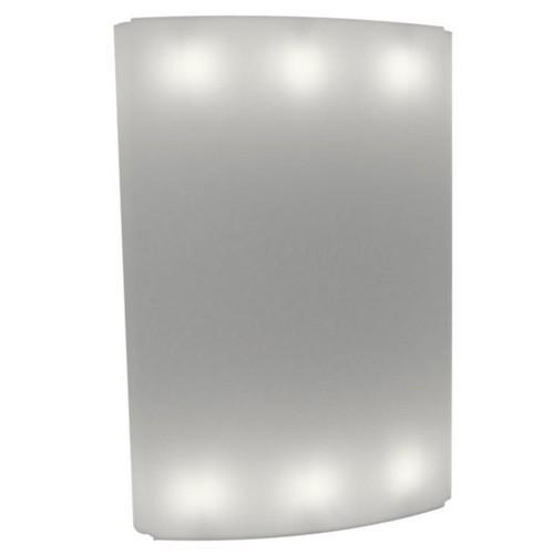 GIO WIND Raumteiler / Paravant beleuchtet weiß