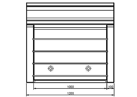 beleuchtete BREAK LINE Bar Technische Daten