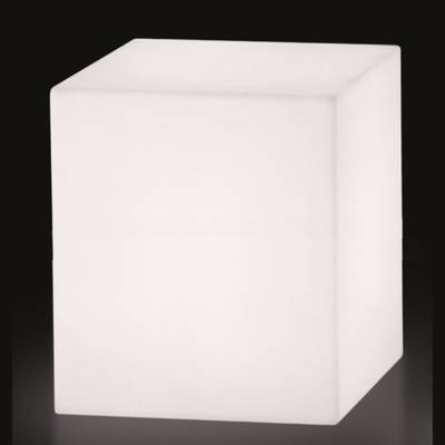 cubo leuchtw rfel sitzw rfel outdoor 50 wei von slide. Black Bedroom Furniture Sets. Home Design Ideas