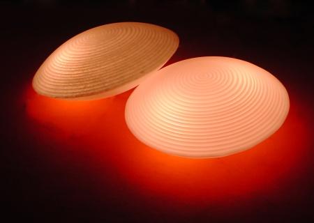 MOREA Leuchtmuschel / Bodenleuchte mit LED-Lampe