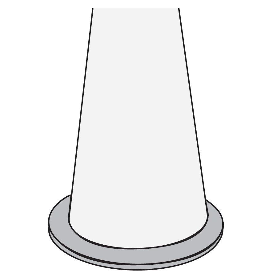 Fußplatte mit Bodenbefestigung Ø 70 cm, weiß, für PIVOT Stehleuchte