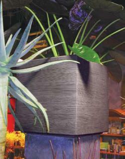 QUADRA Pflanzgefäß grau
